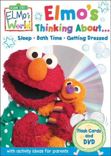 Sesame Street Elmo's World Flashcards and DVD: Elmo's Thinking About Bedtime, Bathtime, Getting Dressed