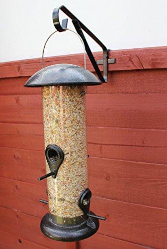 Halterung für Hängekörbe und Vogelhäuser, zur Befestigung an einem Zaun, Metall, 2 Stück