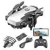 DEAR-JY Mini Drones,Drone Quadcopter Plegable Portátil con Cámara 4K HD,One-Key Return WiFi FPV RC Drones,para Regalo De Actividad Al Aire Libre para Niños Adultos,Blanco