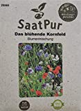 Mezcla de flores de SaatPur, el floreciente campo de grano, mezcla de flores, semillas de flores, flores de abeja, amapolas