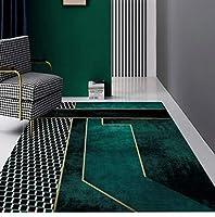 緑の抽象的な領域の敷物芸術的で幾何学的なチェッカーボードカーペット滑り止め屋内屋外柔らかい敷物おしゃれで手頃な価格の敷物 1'3x1'9