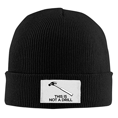 Lawenp Gorros tejidos Beanie Hats Skull Cap This Not A Drill Winter Warm Hat para hombres, mujeres