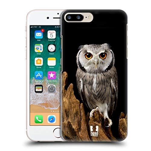 Head Case Designs Cara Blanca Lechuza La Fauna Carcasa rígida Compatible con Apple iPhone 7 Plus/iPhone 8 Plus