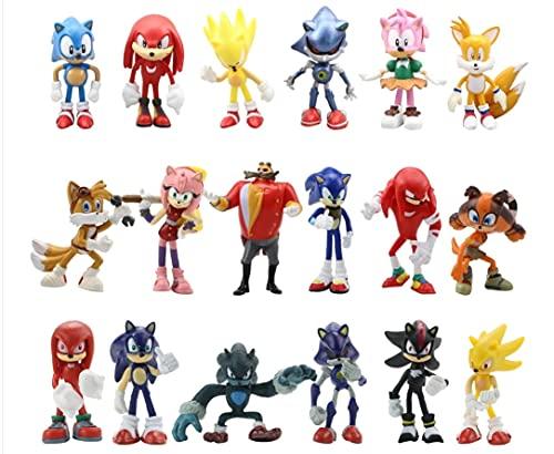 Muñeca Sonic 18 unids/set de Sonic juguete extremidades puede hacer muñecas villano decoración llavero colgante erizo super ratón sonic niño