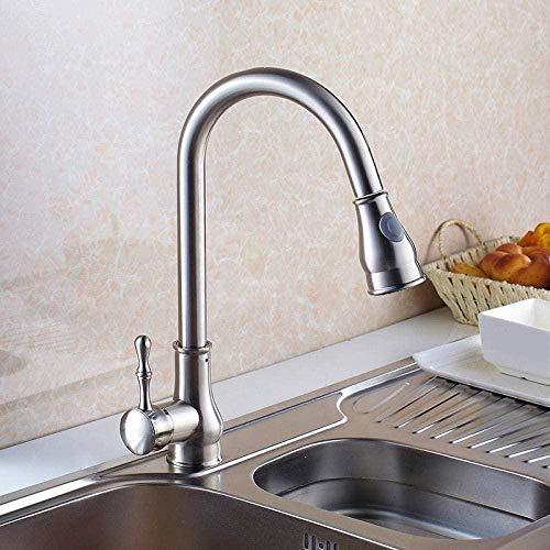 Taps Taps Faucet Faucet All Copper Faucet Pull Out Brush Nickel Copper Kitchen Faucet 2 Function Single Handle Vegetable wash Basin taps