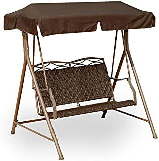 Garden Winds Resin Wicker Swing Replacement Canopy Top Cover