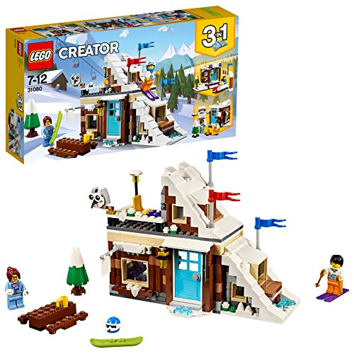 LEGO 31080 Creator Modular Winter Vacation Toy, 3 in 1 Model, Mini Bobsleigh Track Playset