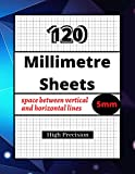 120 Millimetre Sheets 5mm: High Precision / For professionals and students / Graphic Paper / Line spacing 5mm / 215,4 X 279,4 mm / 120 pages