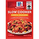 McCormick Slow Cookers Fiesta Chicken Seasoning Mix, 1.5 oz (Pack of 12)