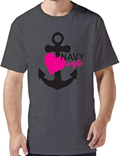 Anchor Navy Wife Customs T-Shirts for Mens