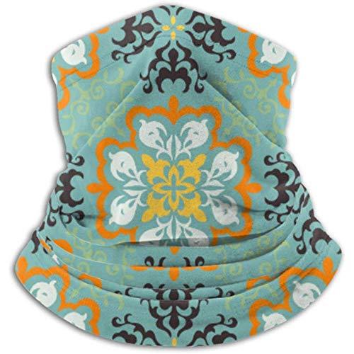 Linger In Halswärmer Mexican Pottery Talavera Portugiesischer Azulejo-Kachelschal, Vollgesichtsmaske oder Hut, Halsgamasche, Skimaske mit Nackenkappe