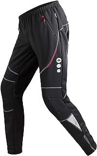 Santic Mens Cycling Pants Fleece Thermal Windproof Bike Trousers Winter Bicycle Warm Athletic Pants