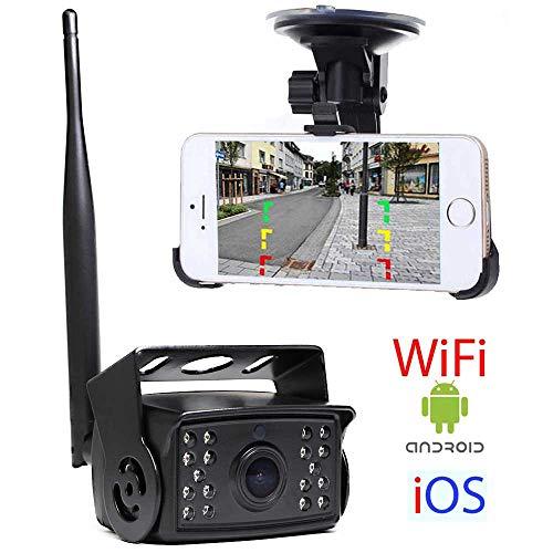HSRpro RFK-69 WiFi achteruitrijcamera voor vrachtwagen, bus, camper en bestelwagens - tot 5 jaar garantie, compatibel met Android en iOS voor mobiele telefoon en tablet - Truck Rear View Camera