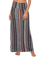 EXCHIC Women's Bohemian Style Print Long Maxi Skirt (XL, 6)