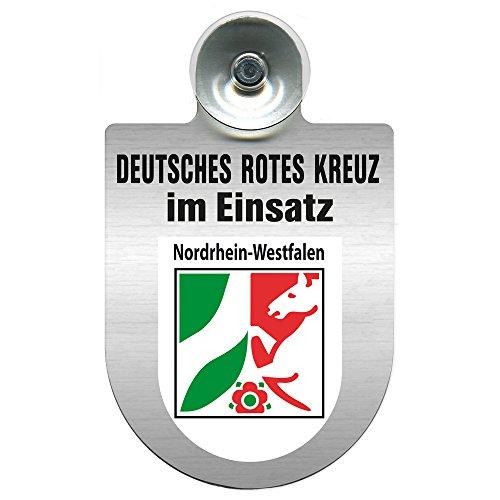 Einsatzschild Windschutzscheibe incl. Saugnapf - Deutsches Rotes Kreuz - incl. Regionen nach Wahl - 309356 - Farbe Region Nordrhein-Westfalen