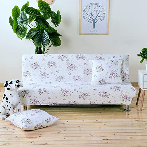 TRDF Futon Sofa Bed Cover Folding Armless Elastic Fabric Futon All-Inclusive Slipcover (160-190CM)