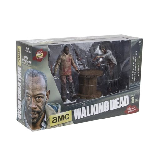 McFarlane Toys The Walking Dead TV Morgan Jones with Impaled Walker and Spike Trap Deluxe Box Action Figure