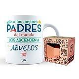 Mr Cool Taza en Caja Regalo en Mensaje Solo A Los Mejores Padres del Mundo Los Ascienden A Abuelos, Cerámica, Multicolor, 15x10x5 cm
