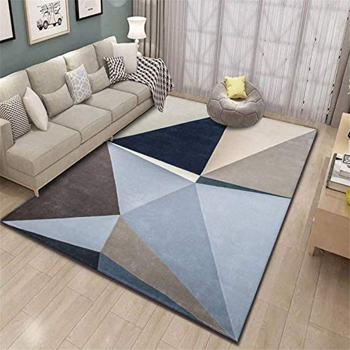 XTUK Home Decoration Carpet Modern Style Rugs Non Slip Carpet Home Accessories In Geometric Pattern In Soft Touch Bed Rugs Parlor Decor Area Rug Large Living Room Rug 140 * 200cm