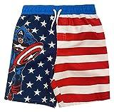 Marvel Avengers Captain America Little Boys Swim Bathing Suit Red White Blue 7