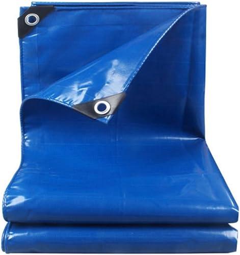 Bache La bache imperméable à l'eau de prougeection de tissu de bache imperméable bleue saupoudrent l'épaisseur et durable dans le camping de famille de Poncho Linoleum extérieur, épaisseur 0.4mm, 450g