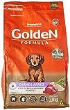 Ração Golden Fórmula Mini Bits para Cães Filhotes Raças Pequenas Sabor Carne e Arroz, 3kg Premier Pet Para Todas Pequeno Filhotes,