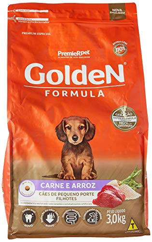 Golden Pet Food Formula Mini Bits for Puppies Small Breeds Meat and Rice Flavor, 3kg Premier Pet For All Small Puppies,