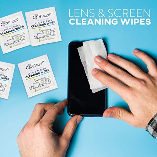 Care Touch Lens Cleaning Wipes   210 Pre-Moistened and Individually Wrapped Lens Cleaning Wipes   Great for Eyeglasses, Tablets, Camera Lenses, Screens, Keyboards, and Other Delicate Surfaces