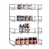 intey latas la estantería con 4baldas metal–Especiero para tarros de especias y condimentos Cocina Armario Almacenamiento