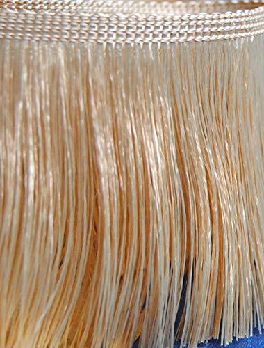 Fransen 25,0 m Farbe Altgold Beige 110 mm breit (0,99 €/m) Dekoborte Dekoband Posamentenborte