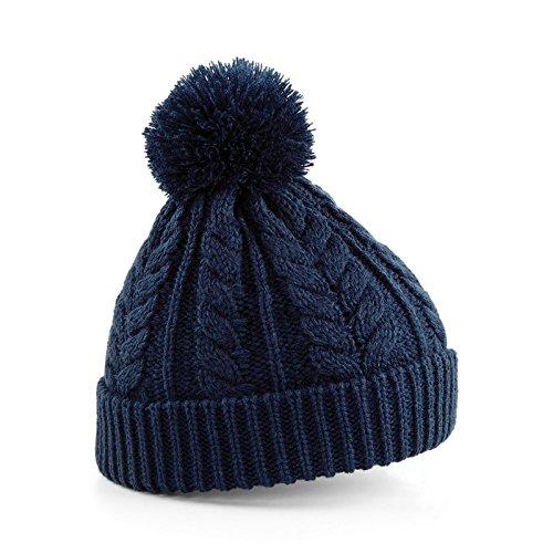Beechfield Bonnet unisexe Motif étoile de neige Fair Isle - bleu - Taille Unique