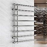 Calentador de toallas, Calentador de toallas calientes para baño, 304 Toalla de acero inoxidable Calentador de pared Montado con calentamiento eléctrico Calentador de toalla de toalla y perchero de se
