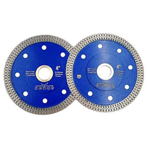 "CHENTAOMAYAN Saws 2pcs Dia 4"" 4.5"" 5"" 7"" 9"" 10"" 12"" Hot Pressed X Mesh Turbo Diamond Saw Blades Porcelain Tiles Cutting Disc Marble Granite Hardware Tools (Size : 2pcs 300MM)"