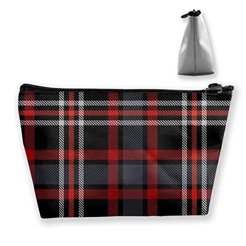 Trousse de toilette Motif écossais Noir/rouge/blanc