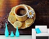 Kaffeetasse Kekse Getreide Lebensmittel 3D Wandbild Tapete Für Wohnzimmer Küche Restaurant Hotel Café Hd Print Poster Wandkunst Foto Tapete