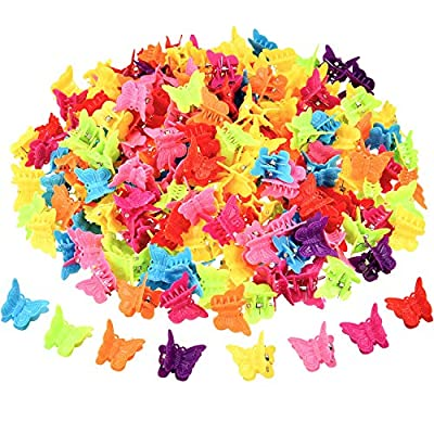 200 Pieces Mini Butterfly Hair Clip Assorted Hair Clip Claw Colored Flower Hair Claw Accessory for Women and Girls, 8 Colors