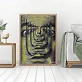 Lienzo Pintura Obra de arte famosa Salvador Dali Pintura clásica Impresiones abstractas Surrealismo Cuadros de arte de pared 50x90cm (20x35in) Con marco