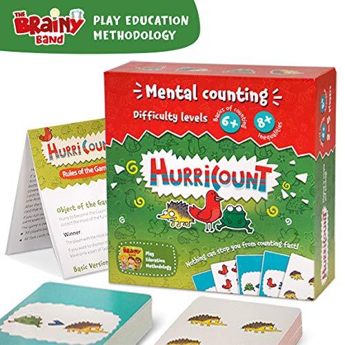 TheBrainyBand Lernspiel Mathematik ab 6 8 Jahren Brettspiele Zahlen vergleichen Kartenspiel für Kinder Grundschule und Lerrnen Spiel für die ganze Familie