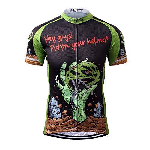 Thriller Rider Sports® Herren Horror Halloween Sport & Freizeit MTB Fahrradbekleidung Radtrikot 2X-Large