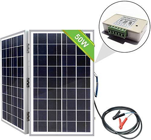 ECO-WORTHY 50 W Off-Grid monokristallin tragbar faltbar Solarpanel Koffer mit Laderegler, 50 W (Poly).