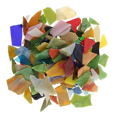 Glitzer Glas Mosaiksteine zum Mosaik Basteln für Wände Deko DIY Handwerk - 200 Stücke, 10-30mm