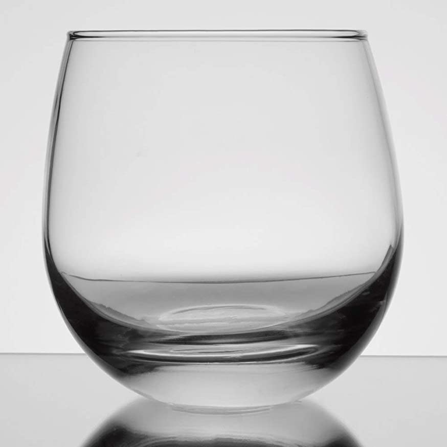 Libbey 238 15 oz. Stemless Rocks/Old Fashioned Glass w/Signature Cocktail Picks