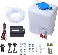 OTUAYAUTO Universal Windshield Washer Bottle, 12V Washer Pump Fluid Reservoir Sprayer Kit - OEM: 160186