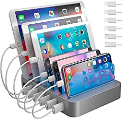 4 Cables Compatible with iPhone 11, 11 Pro, XS, XS Max, XR, X, SE, 8, 8 Plus, 7, 7 Plus, 6, 6 Plus, 6s, 6s Plus, 5, 5s, 5c, iPad, iPad Pro, iPad Air, iPad Mini, iPod, 1 Type-C Cable, and 1 Micro-USB cable perfectly sized to keep your space organized ...