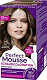 Schwarzkopf Ideal Mousse Permanente Schaumcoloration, Haarfarbe 665 helles Schokogold Stufe 3, 3er...