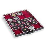 Leuchtturm 310511 Bandeja para Monedas 20 divisiones esquinadas 50 x 50 mm, Color Humo