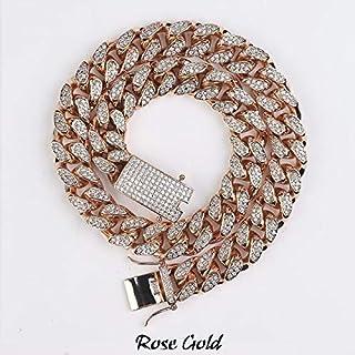 Rose KONOV Bijoux Homme Femme Cristal Naturel Quartz Rose Cylindre de dragon Pendentif Collier Cha/îne de 61/cm