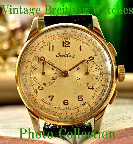Breitling Vintage Antique Watches Photo Collection (English Edition)
