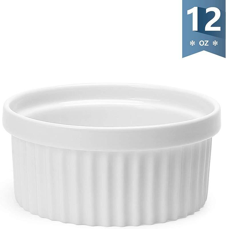 Sweese 503 000 Porcelain Ramekins For Baking 12 Ounce Souffle Dish Single White