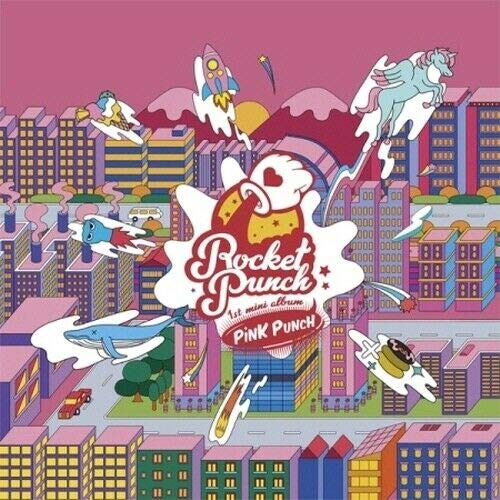 ROCKET PUNCH Pink Punch - Álbum de fotos (CD+1p póster+80p Booklet+1p PhotoCard+1p Sticker+1p Pop-Up Card+Message PhotoCard Set+Tracking Kpop Sealed)